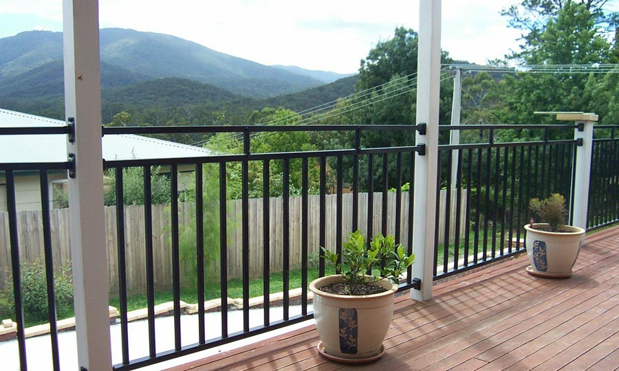 Photos colorsteel fencing for Terrace fence